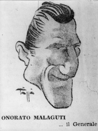 6. 1948. Onorato Malaguti: caricatura di Triggio.